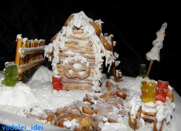 Рождественский домик без выпечки - какая прелесть!