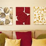 Картины из ткани: декор для стен своими руками