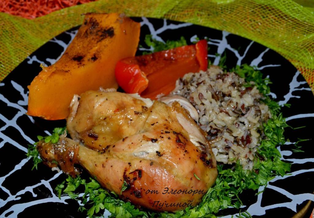 Курица запечённая с рисом