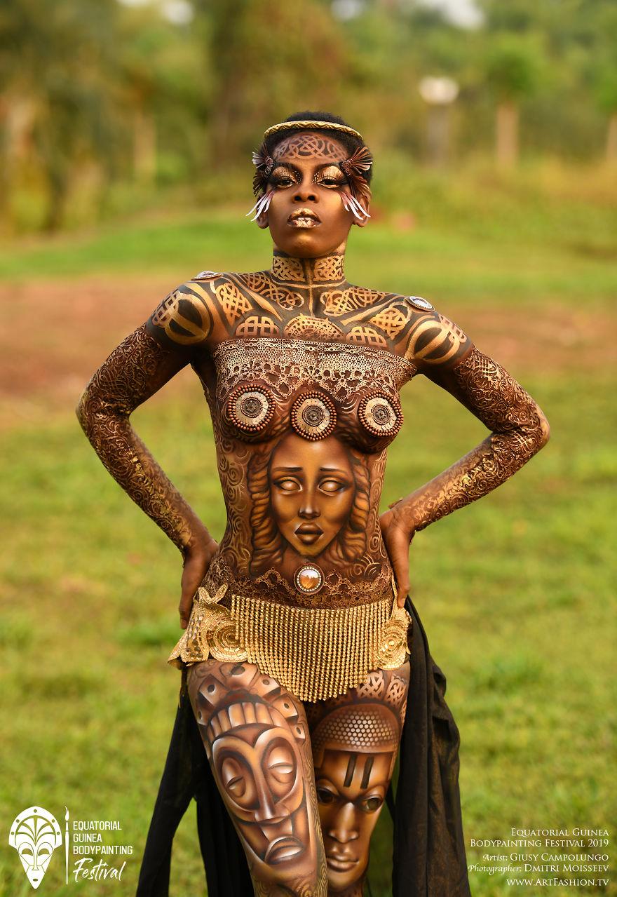 Фотографии с фестиваля бодиарта в Экваториальной Гвинее, поражающие воображение
