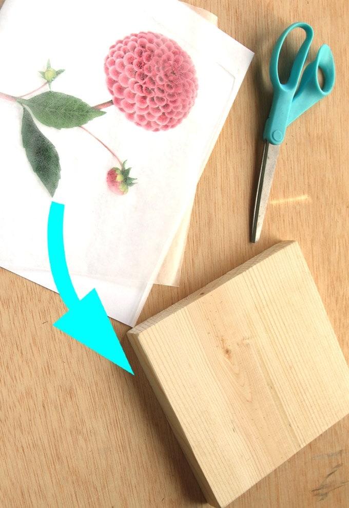 Крутая идея: соединяем доску и вощеную бумагу интерьер,переделки,рукоделие,своими руками,сделай сам