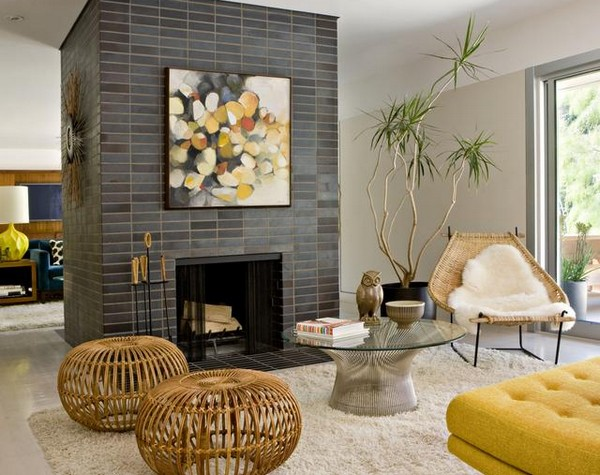 Плетёная мебель в интерьере