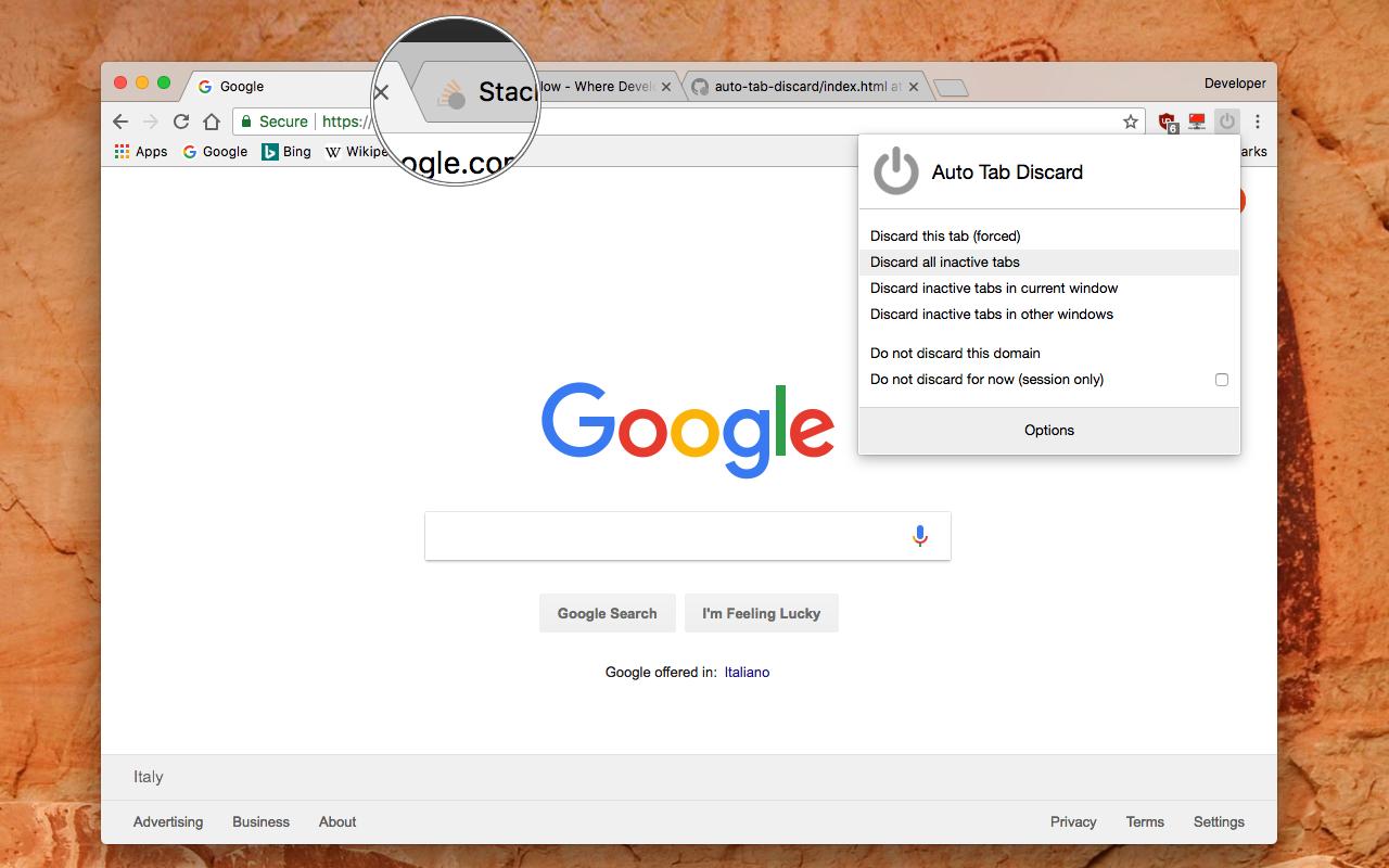 Как освободить память в неактивных вкладках Firefox и Chrome