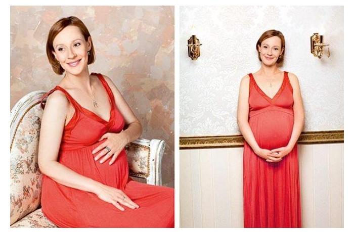 Евгения Дмитриева, готовящаяся стать мамой.