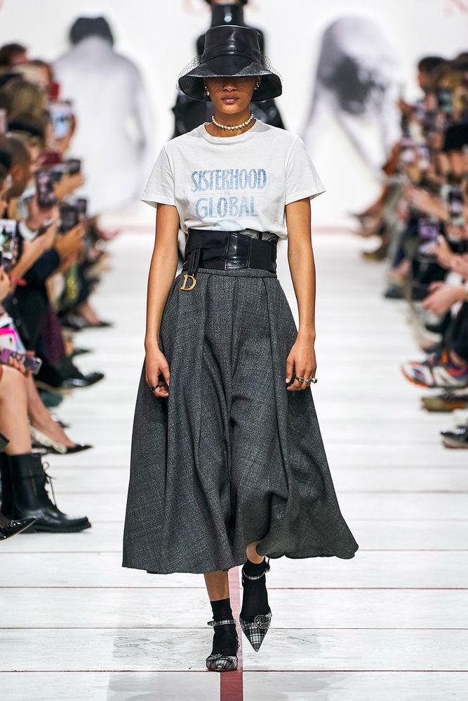 Весна 2020 — юбки сложного кроя, длина миди, фото № 16