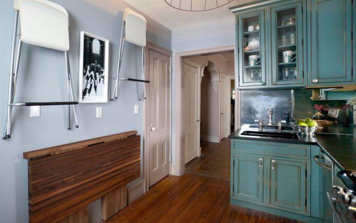 складная барная стойка на маленькой кухне