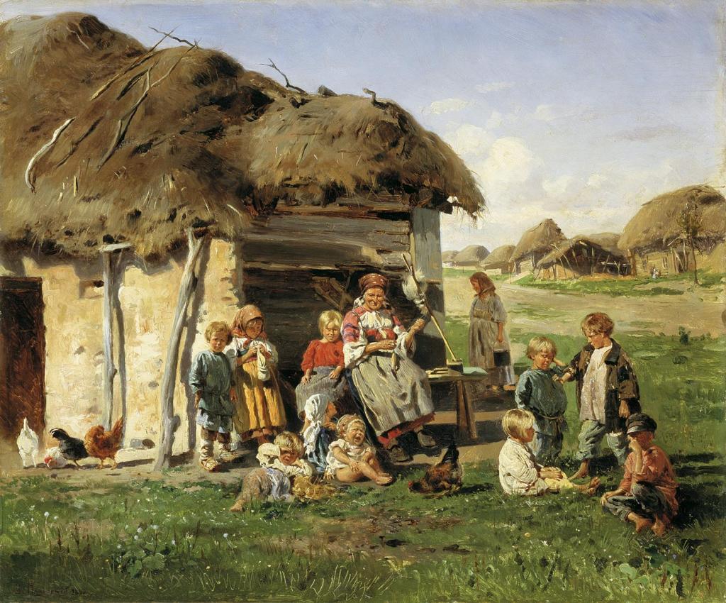 Картинка крепостного крестьянина