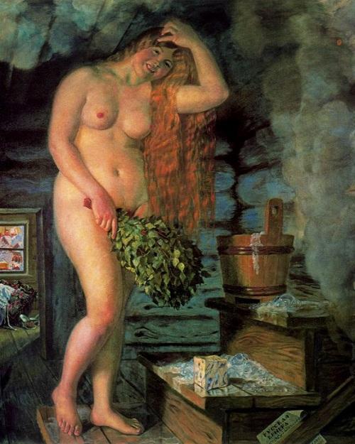 Русская Венера. (1925). Автор: Б.М.Кустодиев.
