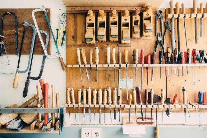 Мастерская в доме: как хранить инструменты