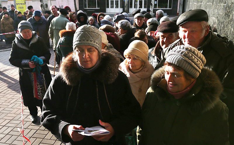 Европа оставила Донбасс без пенсий