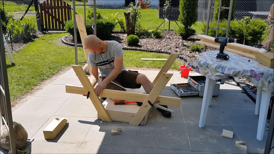 Очень удобный стол с секретом для дачного участка интерьер,своими руками,сделай сам