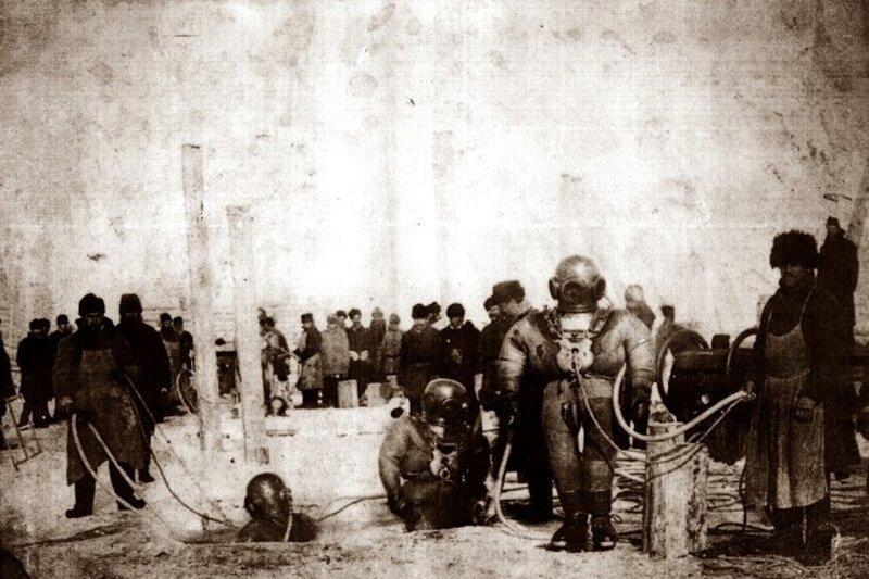 Строительство моста 19 век, жизнь до революции, редкие фотографии, снимки, фотографии, царская россия