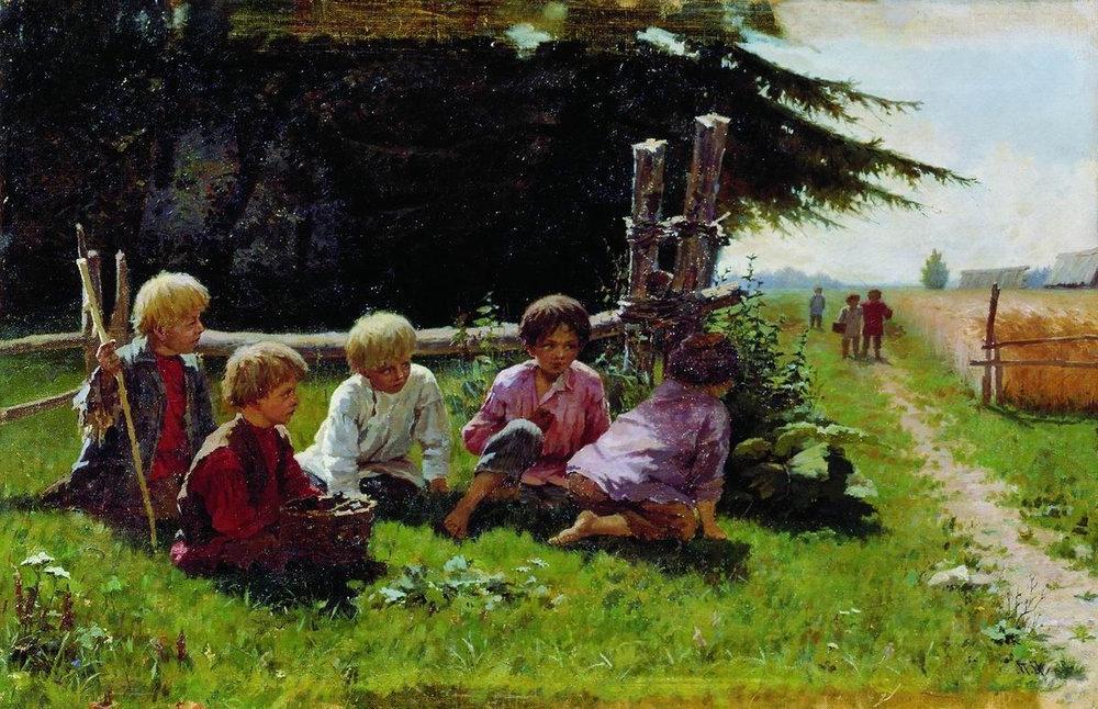 День рождения, картинки крестьянские дети