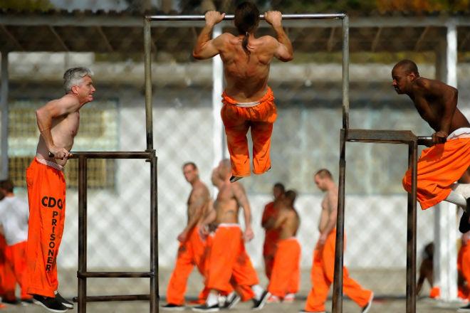 Тренировка из американской тюрьмы