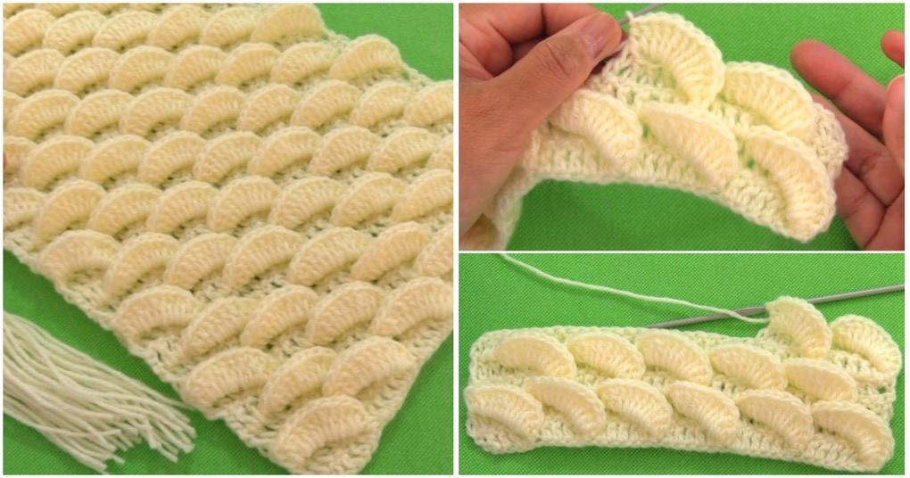 Оригинальный 3D шарф с лимонно-лаймовым узором
