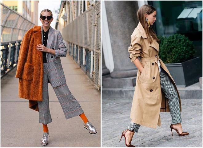 Клетка, кожа и шерсть: модные пальто на осень 2019