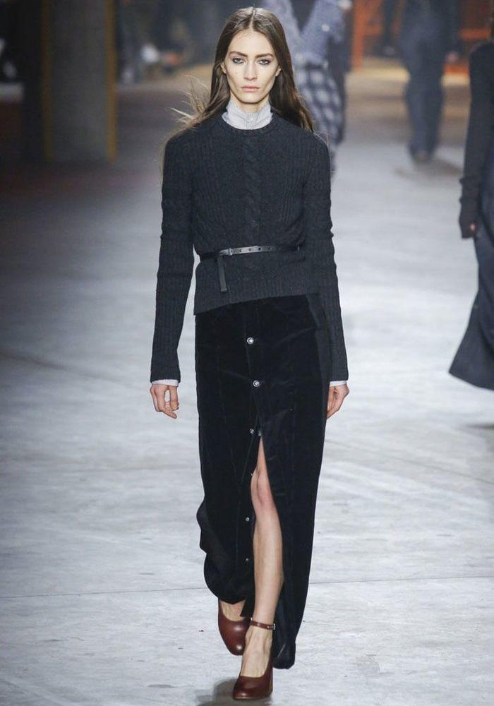 Весна 2020 — юбки сложного кроя, длина миди, фото № 46