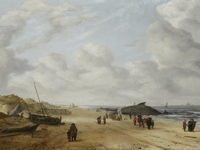 Сцена на пляже. Хендрик ван Антониссен.