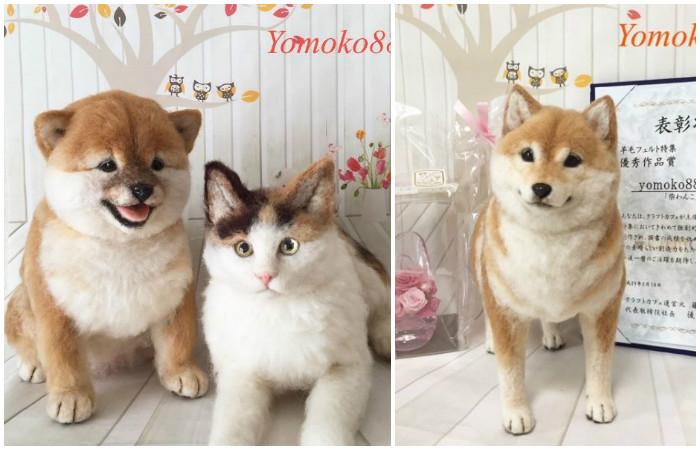 Почти живые кошки и собаки, сделанные из валяной шерсти своими руками!