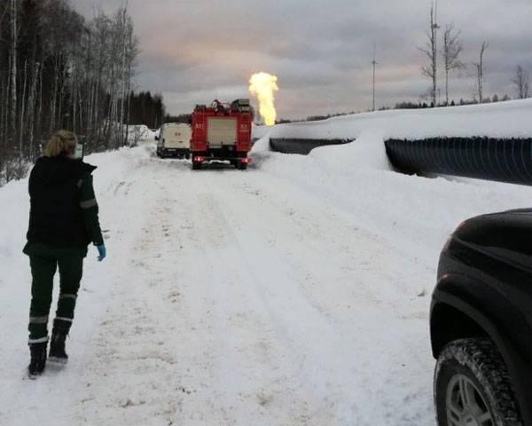 Произошёл взрыв на участке магистрального газопровода в Ленобласти