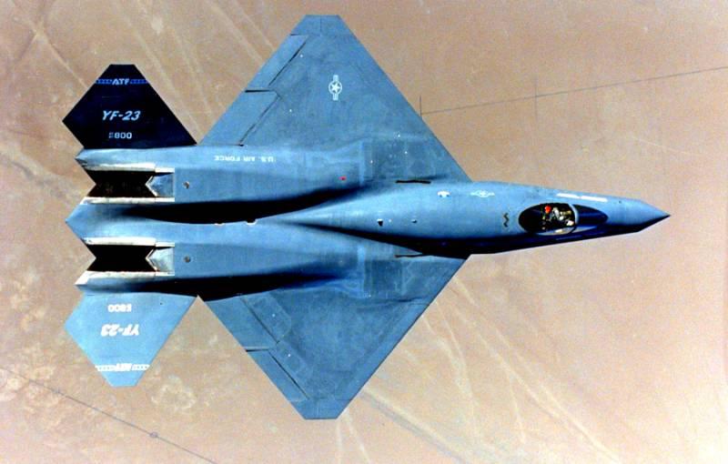YF-23: проигравший конкурент F-22