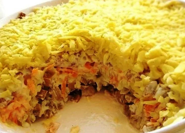 Вкусный салат «Белая ночь», который обожают в моей семье