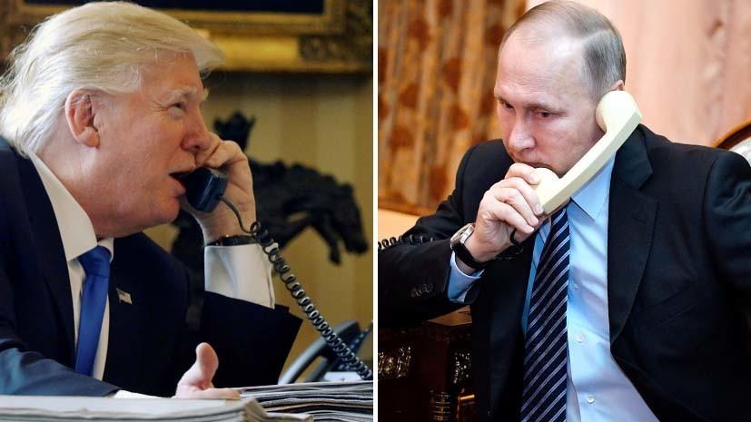 Трамп поздравил Путина с поб…