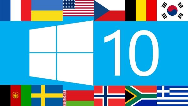 Как изменить язык интерфейса в Windows 10?