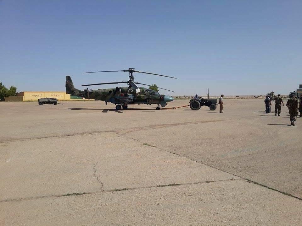 Вертолет Ка-52 на испытаниях в Алжире