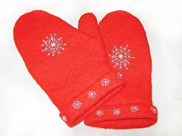 Теплые, удобные и практичные рукавички из шерсти мастер класс