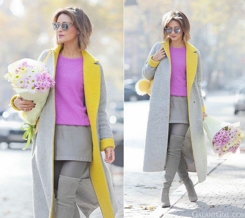 Колорблок стиль в одежде