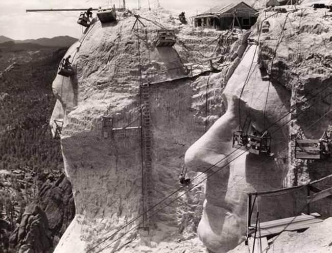 Строительство барельефа на горе Рашмор, 1939 год