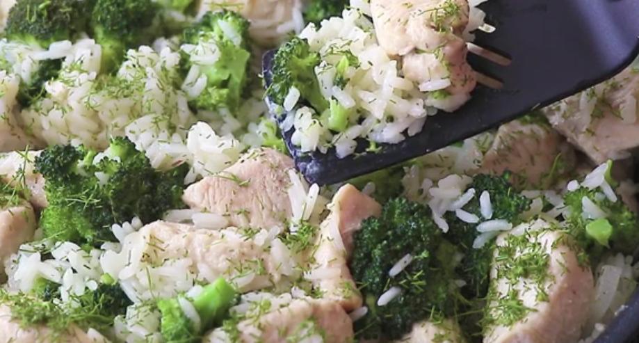 Рис с брокколи и куриным филе: вкусное блюдо к ужину
