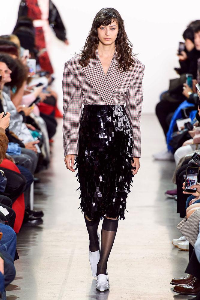 Весна 2020 — юбки сложного кроя, длина миди, фото № 48