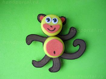 Будем делать магниты обезьянки своими руками