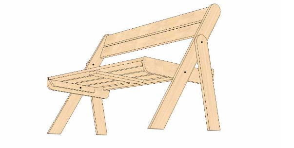 Складная скамейка своими руками для дома и дачи,мастер-класс,мебель
