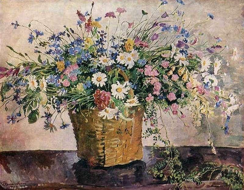 1938 Натюрморт. Полевые цветы.Вика. 103х132,5 ГРМ - Кончаловский Петр Петрович