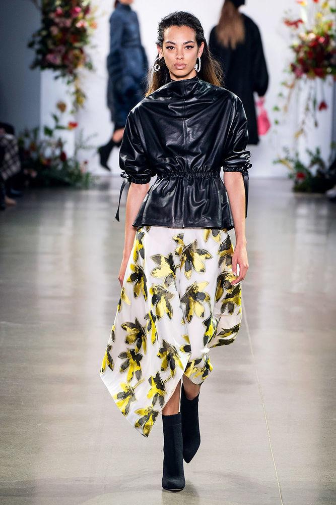 Весна 2020 — юбки сложного кроя, длина миди, фото № 37