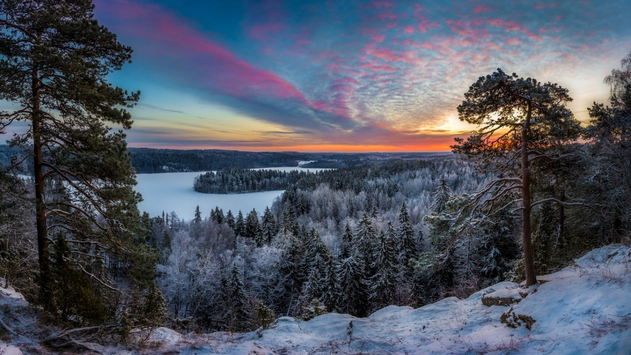 Зимний пейзаж, ву lauri lohi