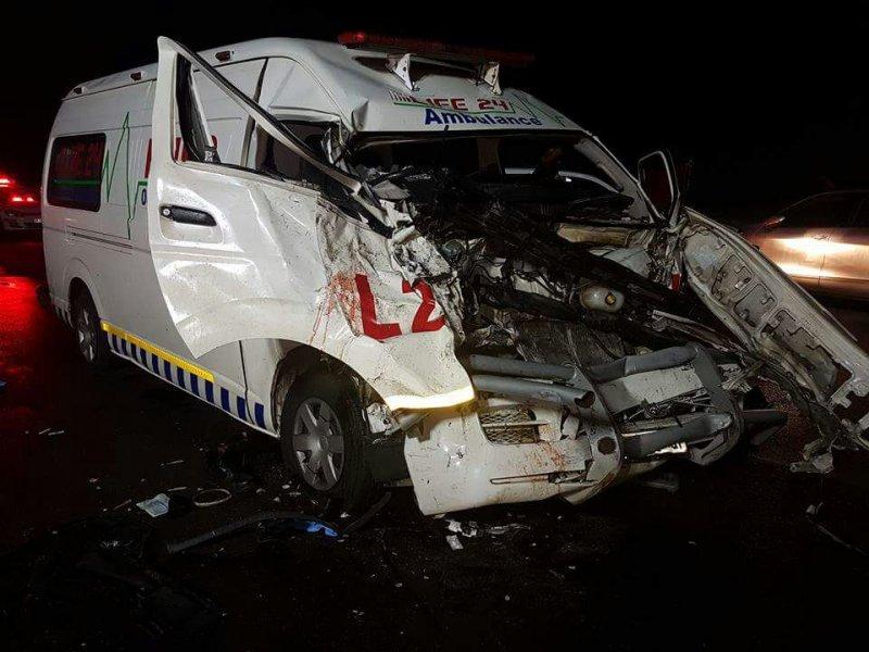 В ЮАР машина скорой помощи врезалась в бегемота