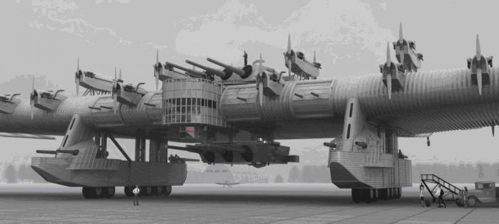 """Летающая крепость """"К-7"""".  СССР"""