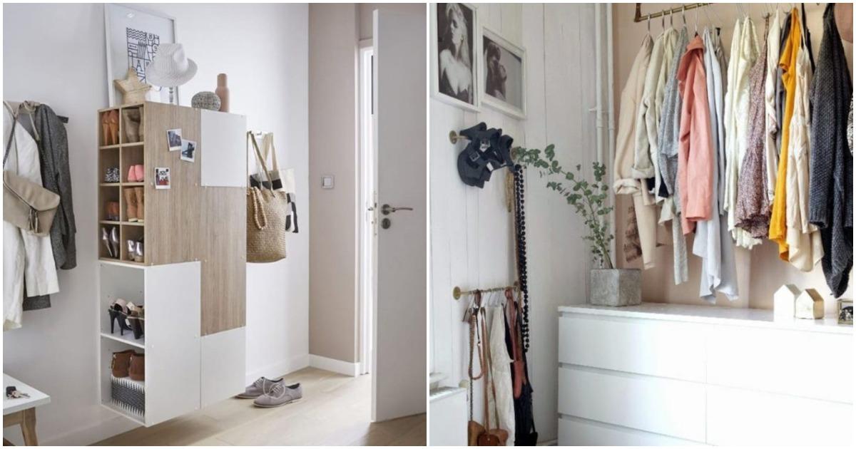 Куда спрятать вещи, если для ещё одного шкафа уже нет места: 22 отличных фото-примера