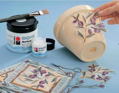 original Декупаж цветочных горшков своими руками салфетками, работа с глиняными и пластиковыми горшками