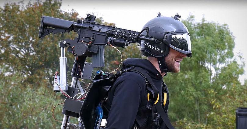 Смерть на реактивной тяге: англичане прикрутили к джетпаку пушку броня,военные,технологии