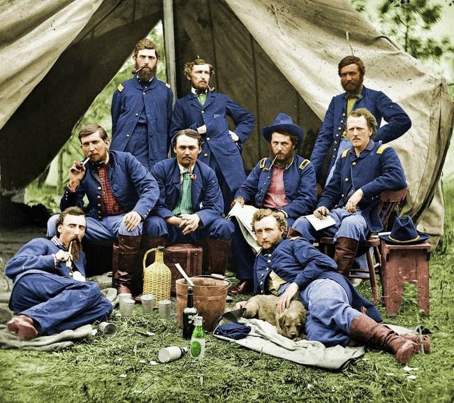 Джордж Армстронг Кастер и его соратники, во время американской гражданской войны