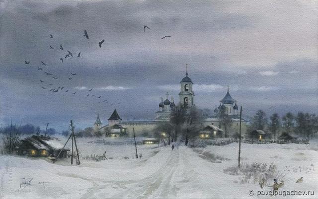 Русская зима. Никитский мужской монастырь (640x402, 196Kb)