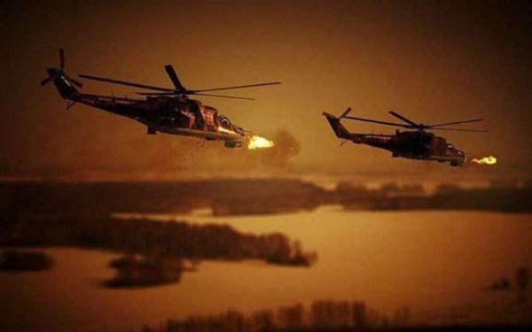 Атакуют вертолеты огневой поддержки