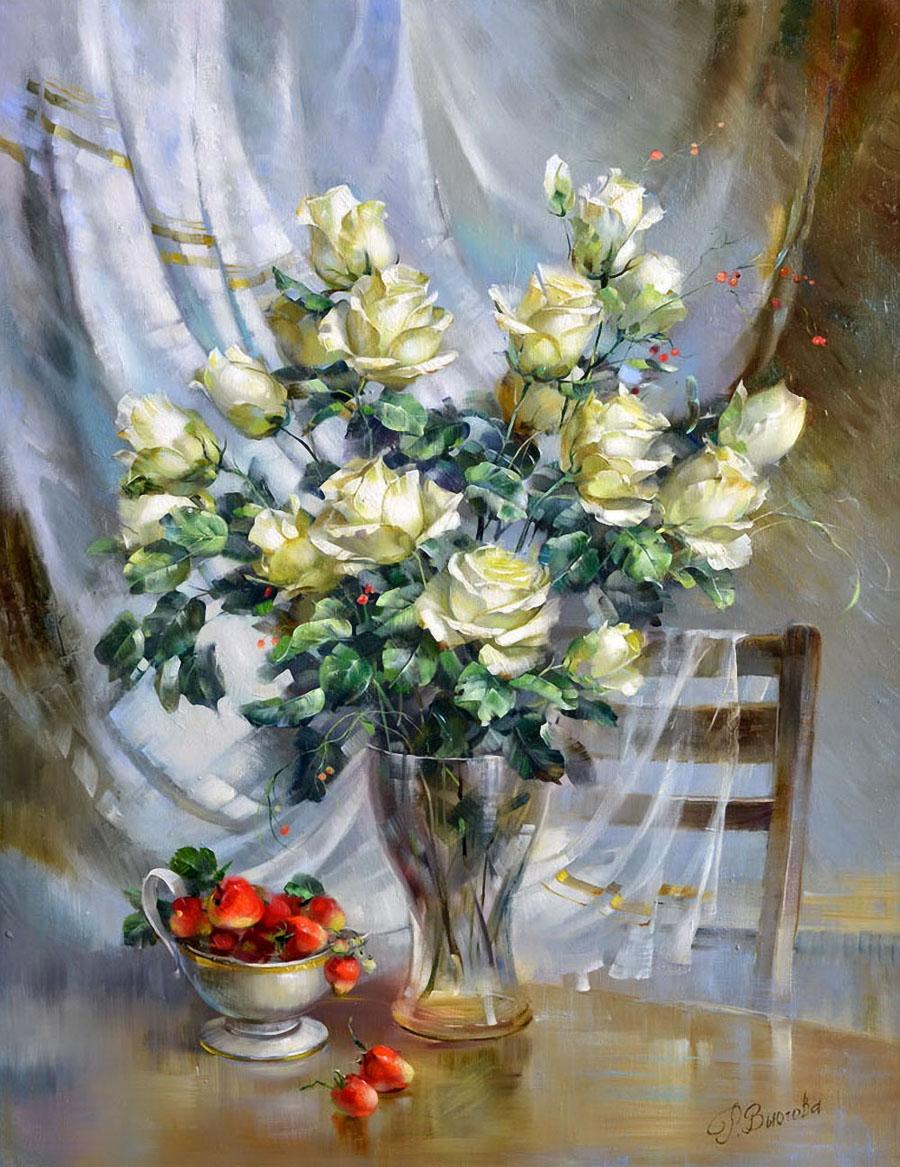 Благодарю за каждый лепесток... Неверояные цветочные композиции Риммы Вьюговой