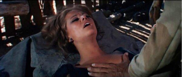 Фильм «Однажды на Диком Западе» (1968). Знойная красотка и брутальные мужчины