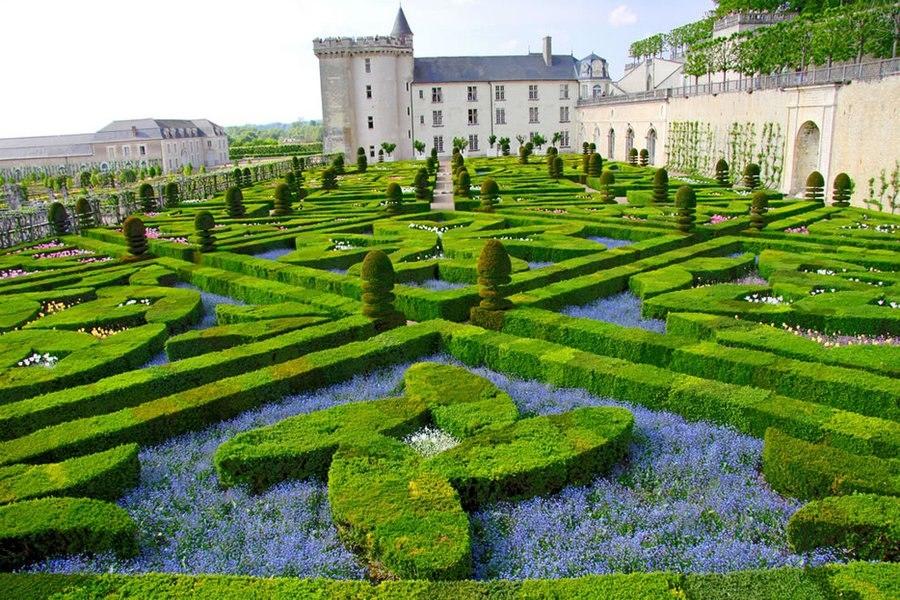 Романтичный сад любви в Шато де Вилландри